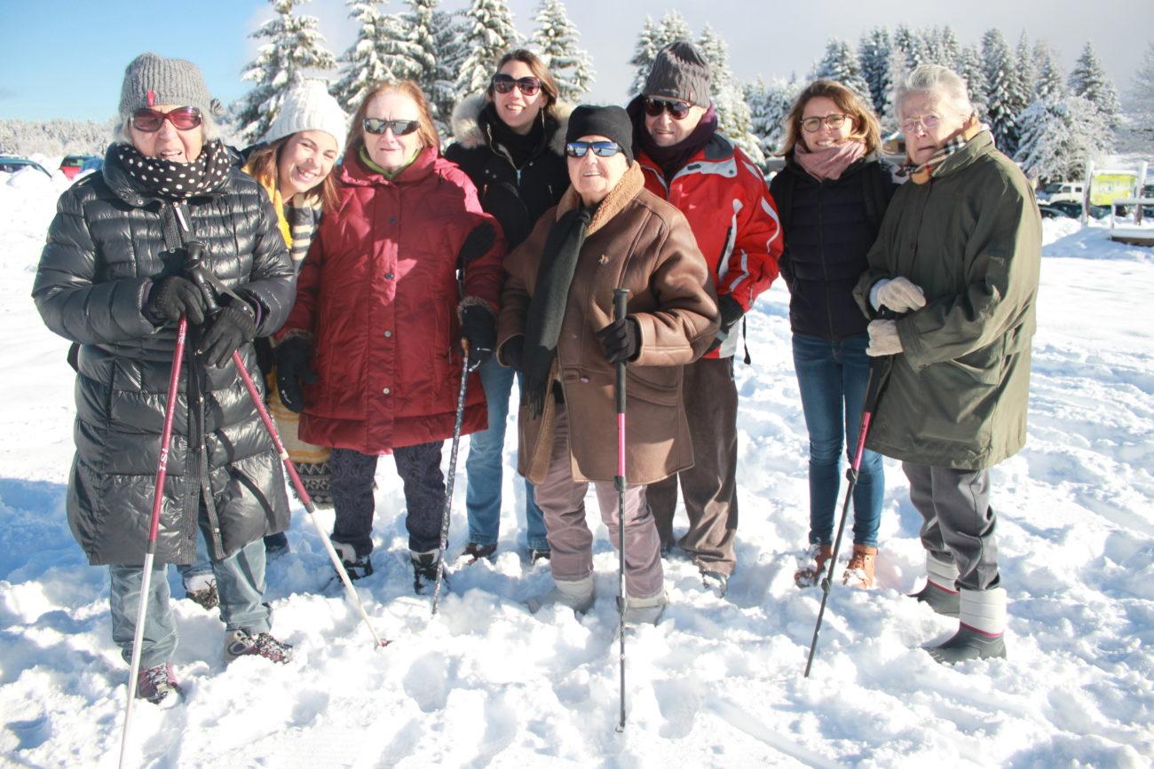 Sortie à la neige du jeudi 20 décembre avec des résidents du PASA